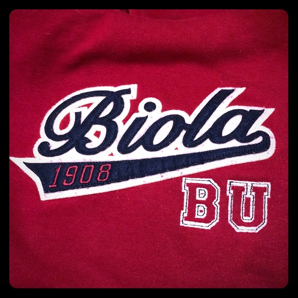 factory outlets order professional sale Maroon Biola University Hooded Sweatshirt Size Med